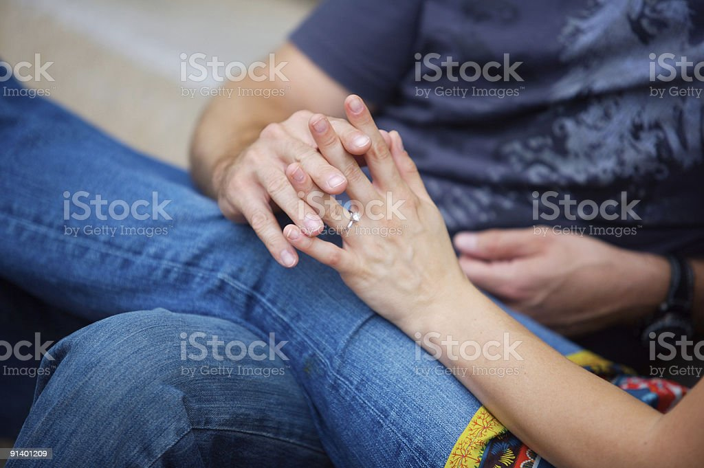 Fingers Intertwined royalty-free stock photo