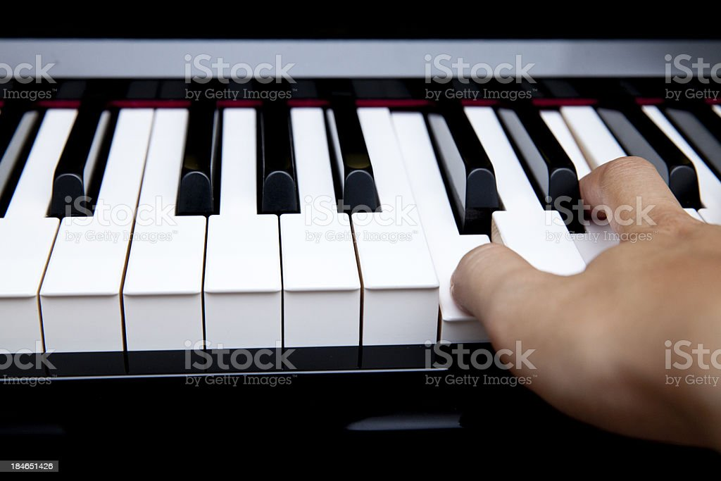 Fingers on piano royalty-free stock photo