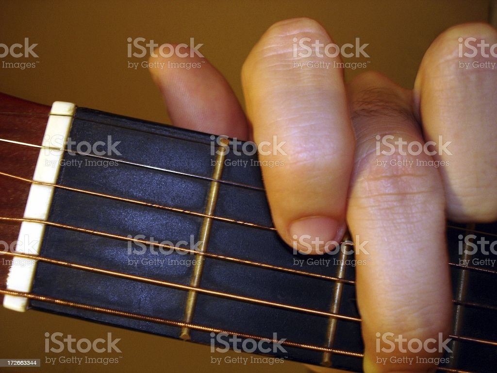 Fingers on the Frets stock photo