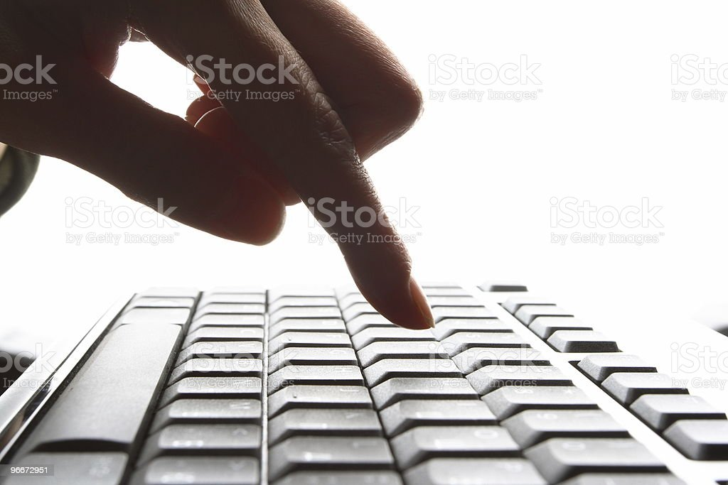 Fingers on the keyboard royalty-free stock photo