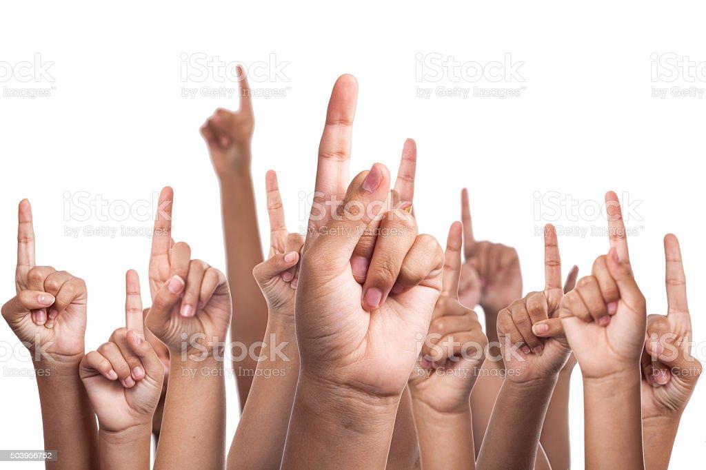 Fingers stock photo