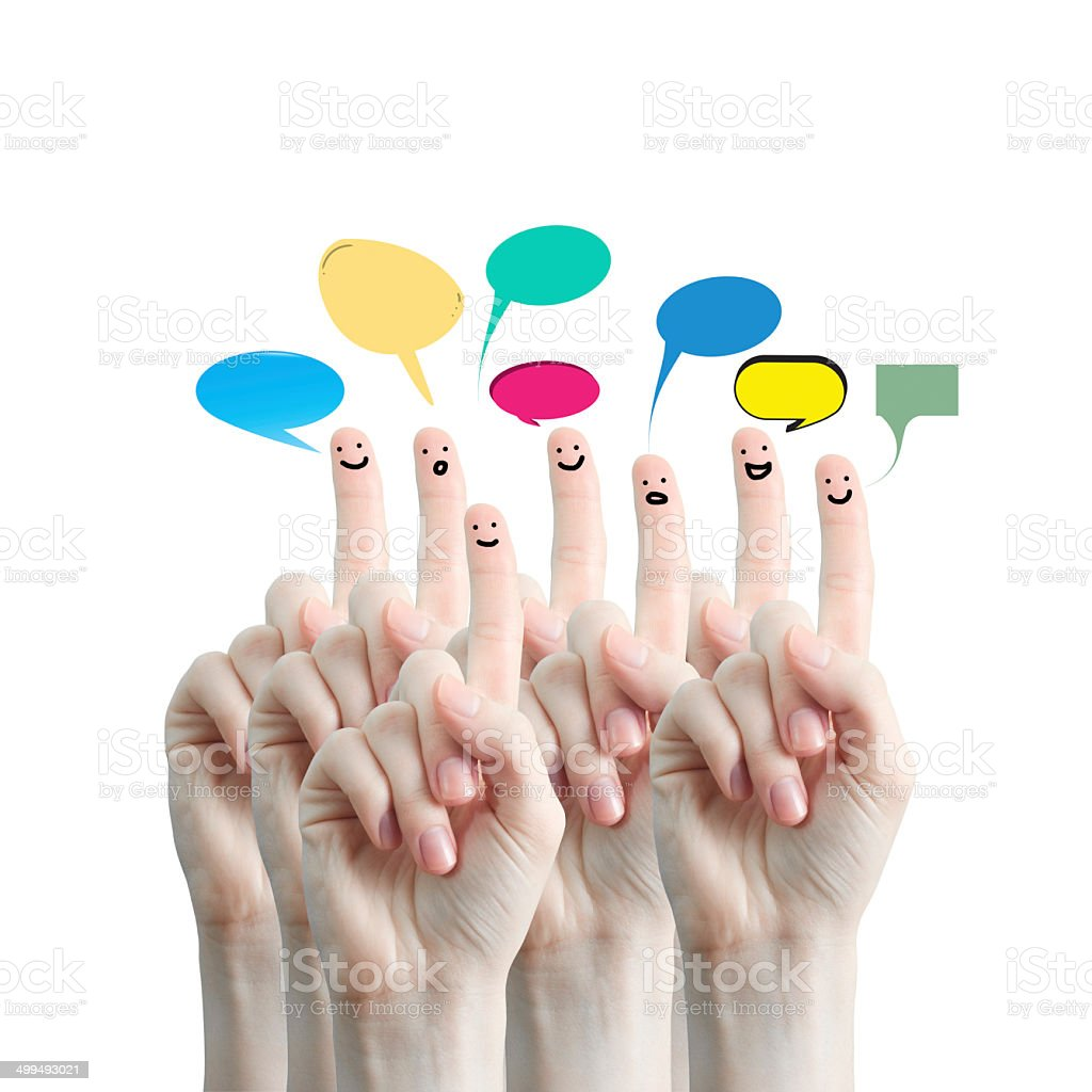 Fingers representing a social network. royalty-free stock photo