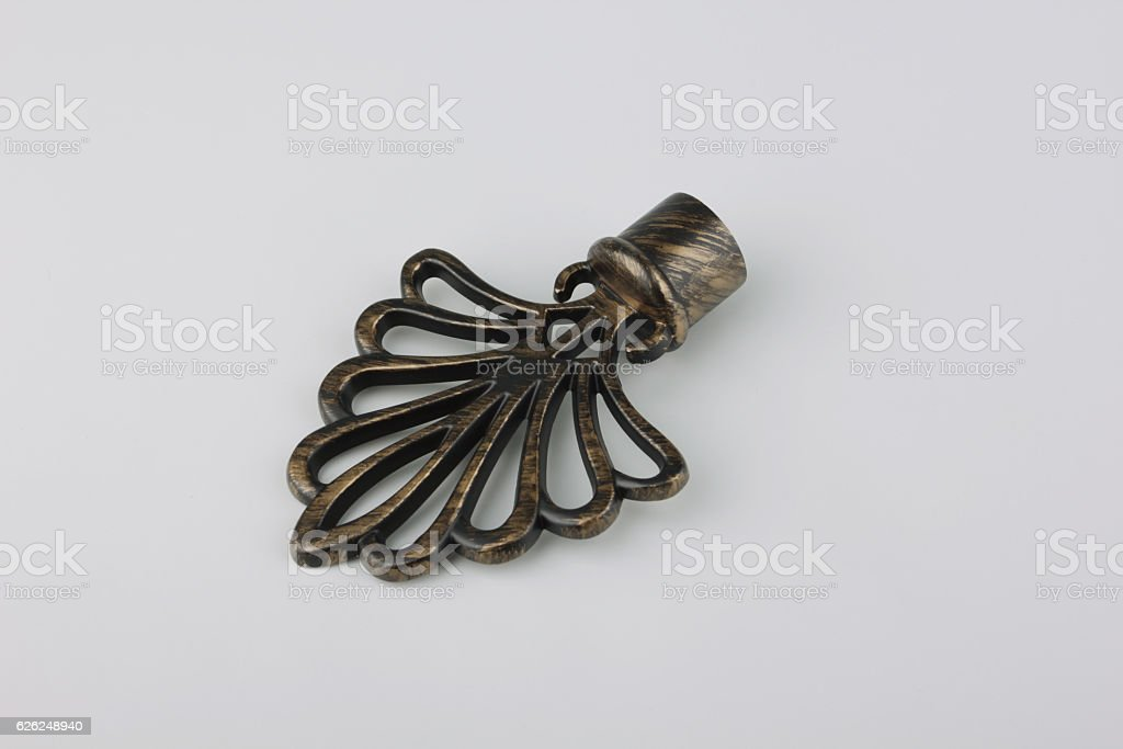 Finials for curtain cornices. stock photo
