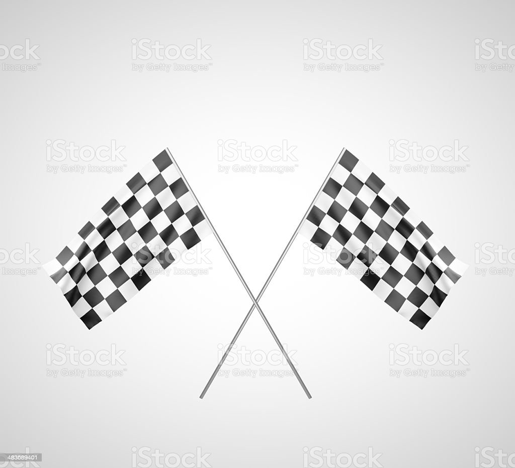 finish flags royalty-free stock photo