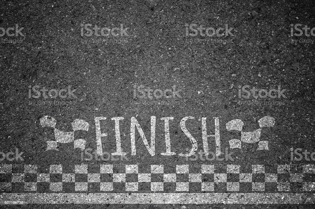 Finish line of racing formula background. stock photo