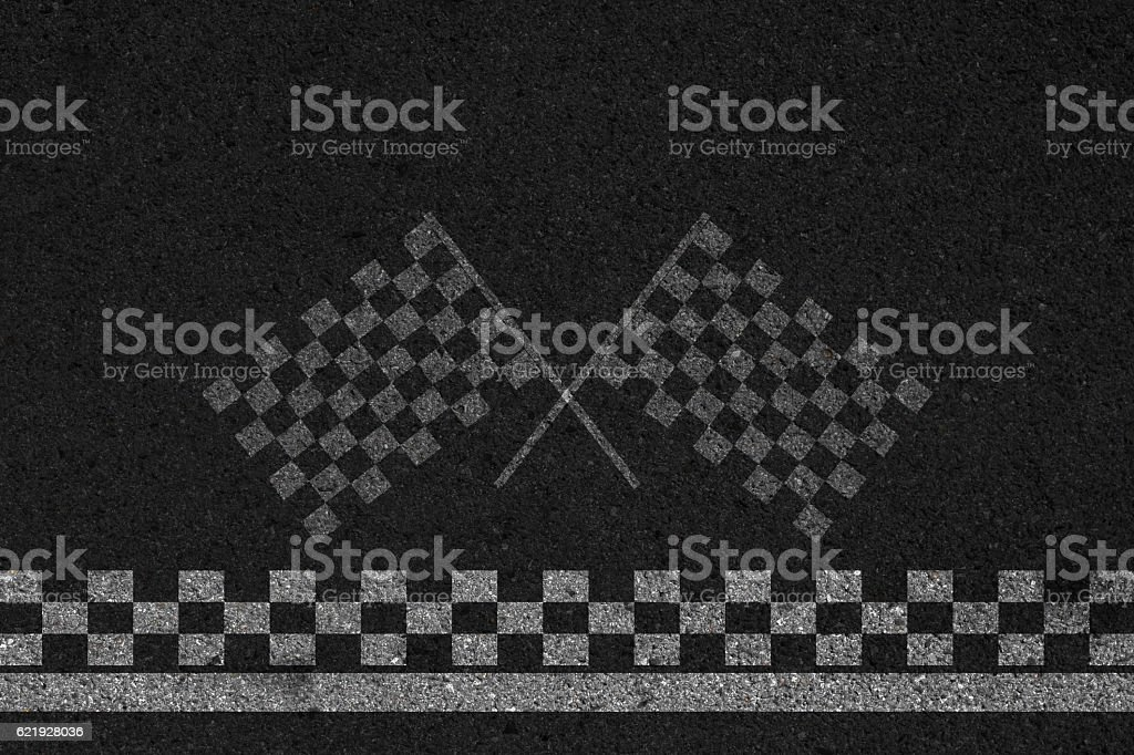 Finish line of racing road background. stock photo