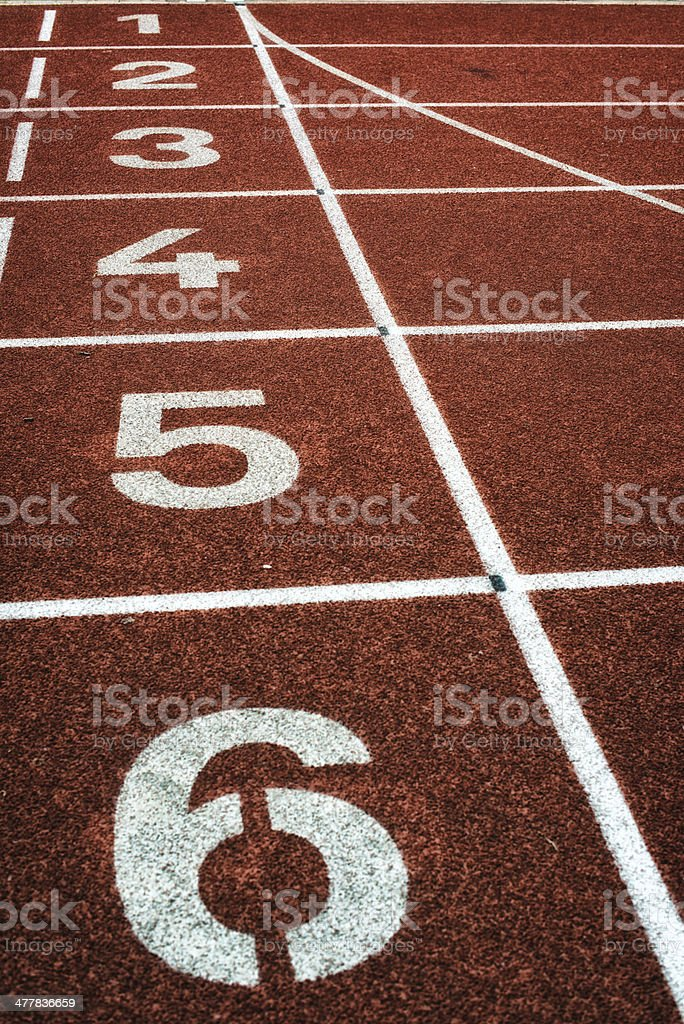 finish line on track and field royalty-free stock photo