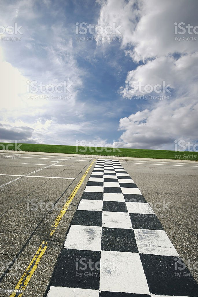 Finish Line stock photo