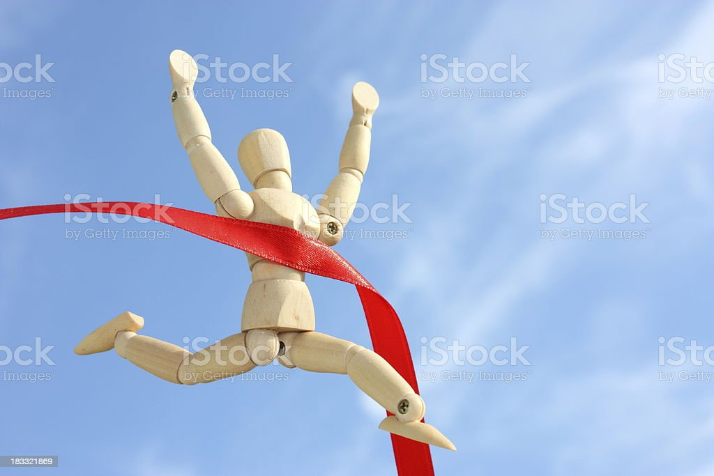 Finish line royalty-free stock photo