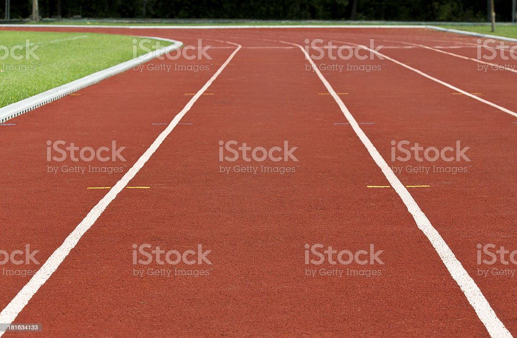 Finish line Running track royalty-free stock photo