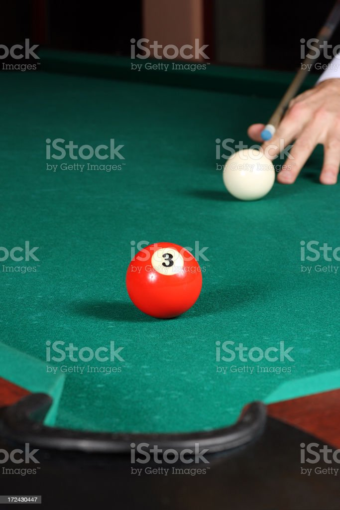 Finish of the pool game royalty-free stock photo