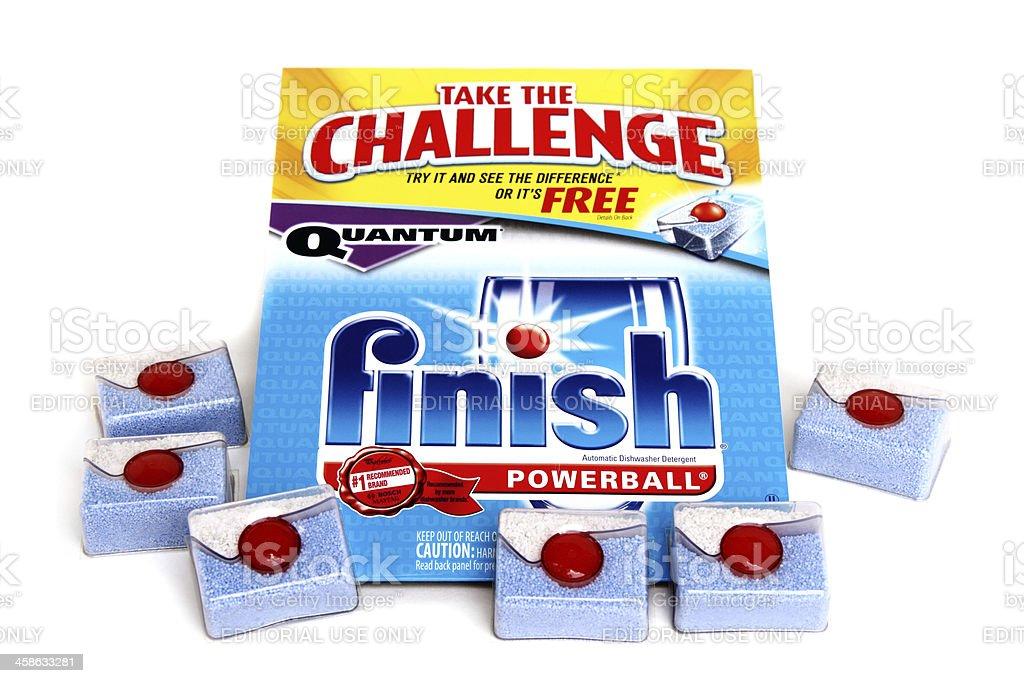Finish Powerball Automatic Dishwasher Detergent stock photo