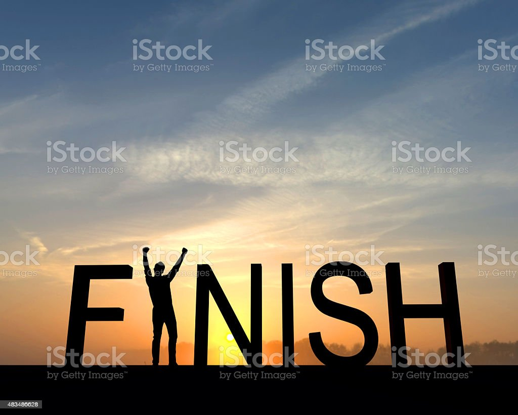 Finish silhouette stock photo
