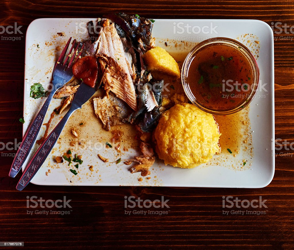 finish the lunch stock photo
