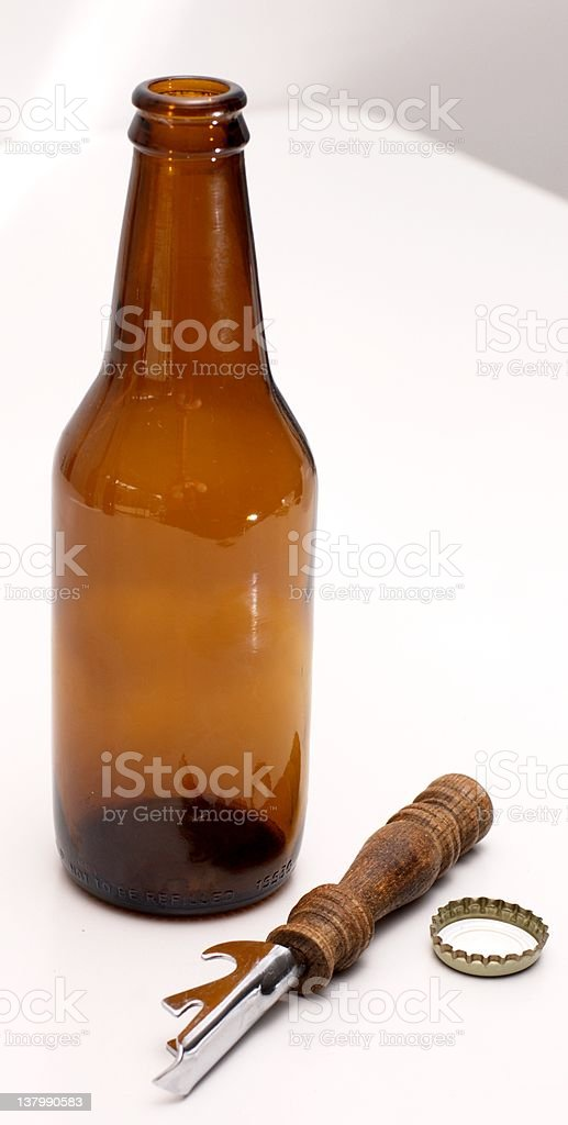 Finished beer stock photo