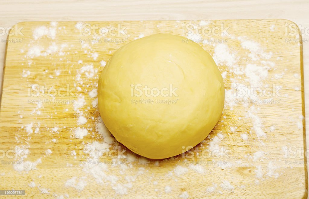 finished clean dough royalty-free stock photo