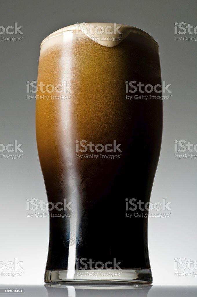 Finished Irish Stout stock photo