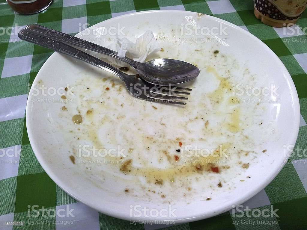 Finished Meal stock photo