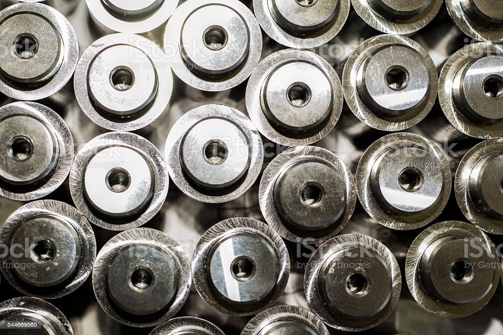 Finished part afted turning for vehicle industry stock photo