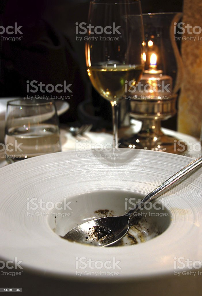 finished plate royalty-free stock photo