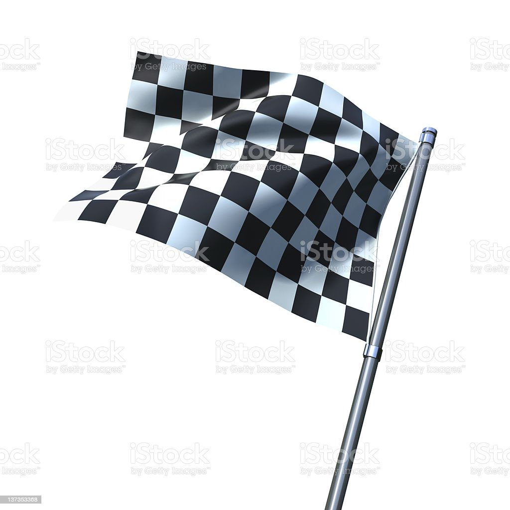 Finishing checkered flag stock photo
