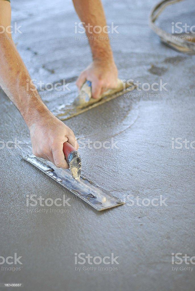 Finishing Concrete stock photo
