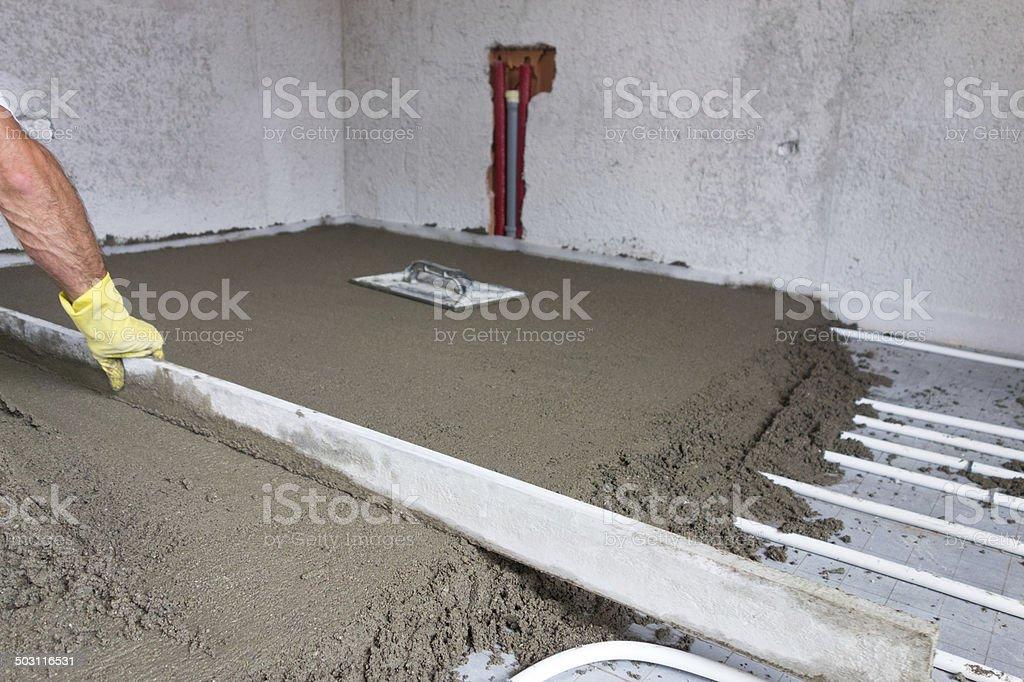 Finishing Concrete royalty-free stock photo