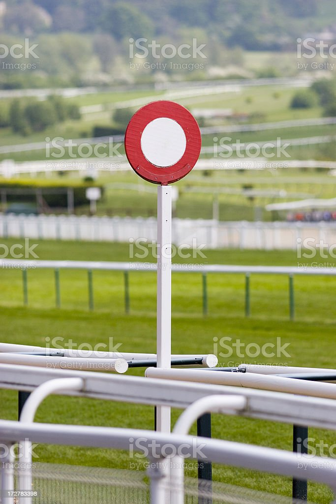 Finishing Post royalty-free stock photo