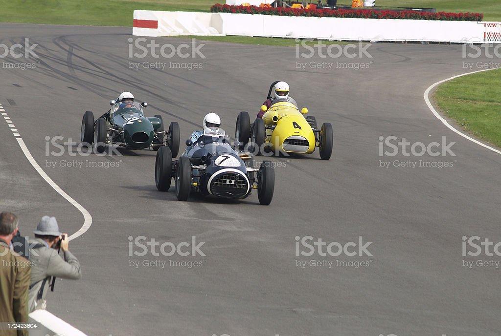 Finishing Straight Racing stock photo