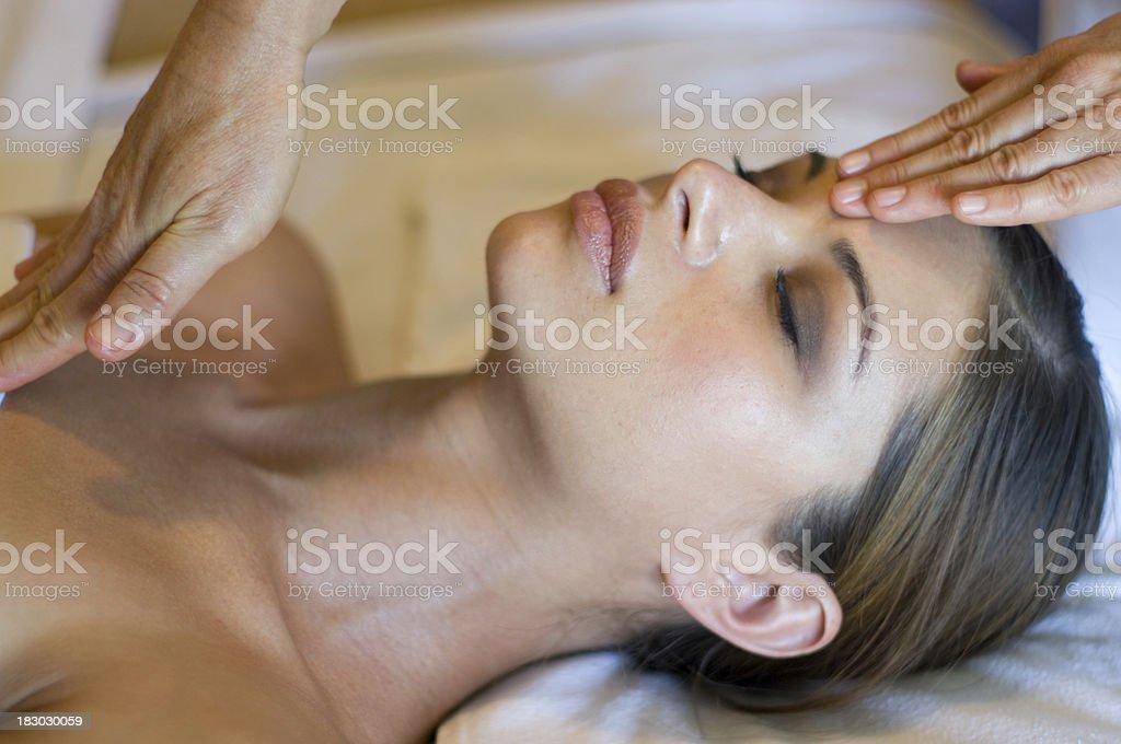 finishing the massage stock photo