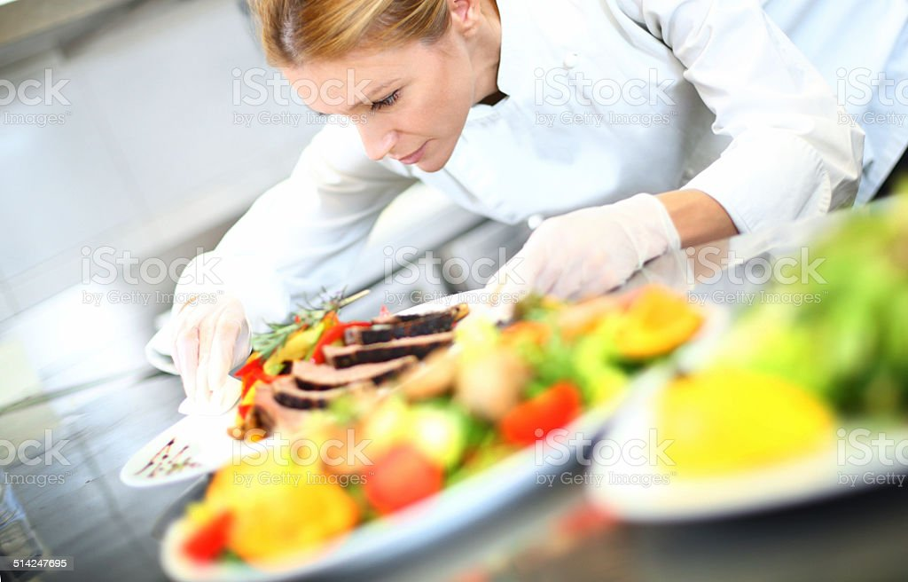 Finishing touch. stock photo