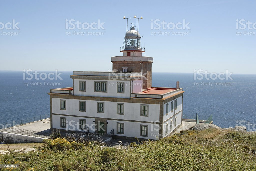 Finisterre Lighthouse royalty-free stock photo