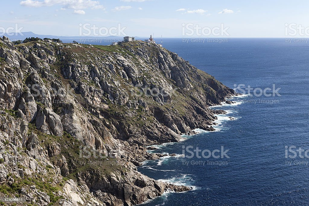 Finisterre?s lighthouse royalty-free stock photo