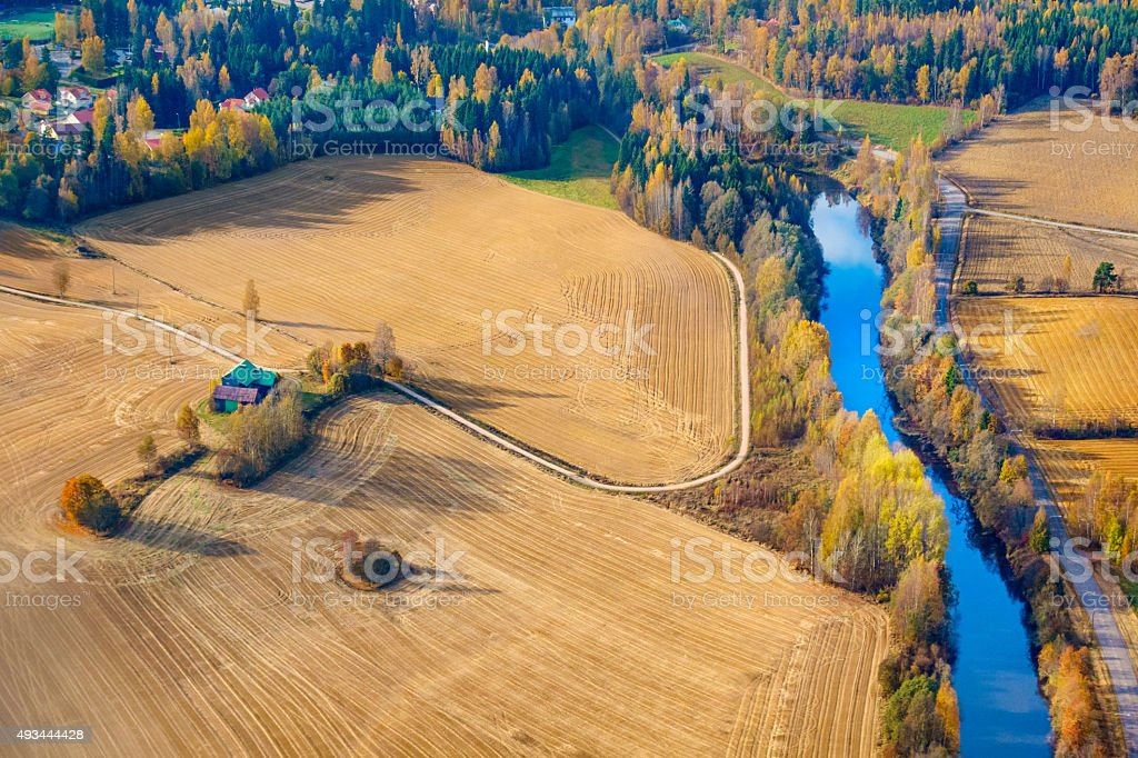 Finland Aerial Landscape stock photo