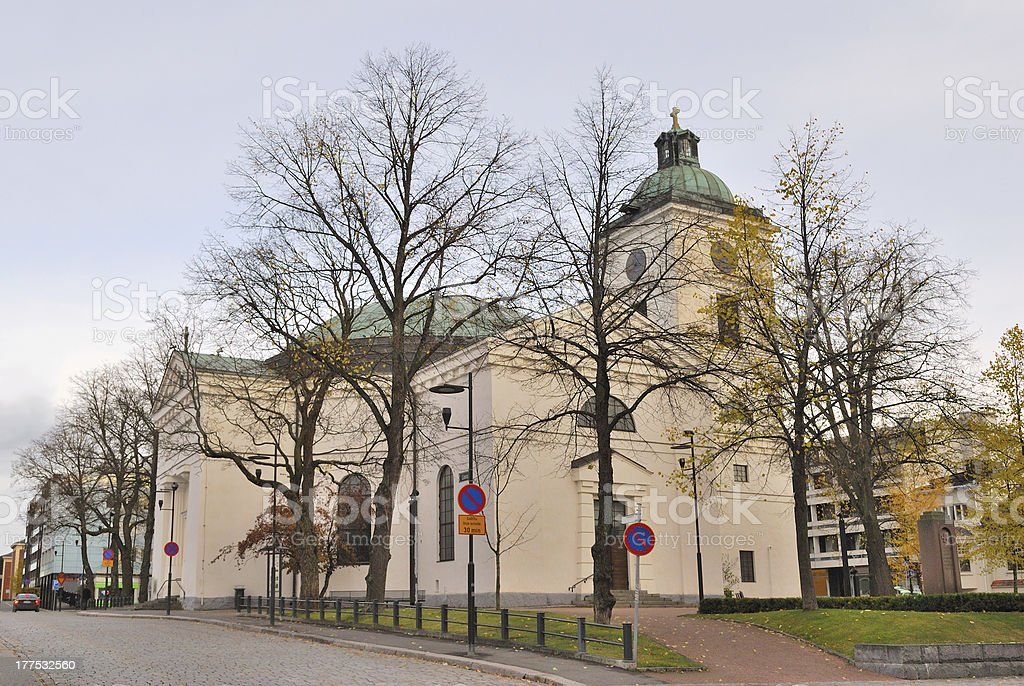 Finland. Church in the town of Hameenlinna royalty-free stock photo