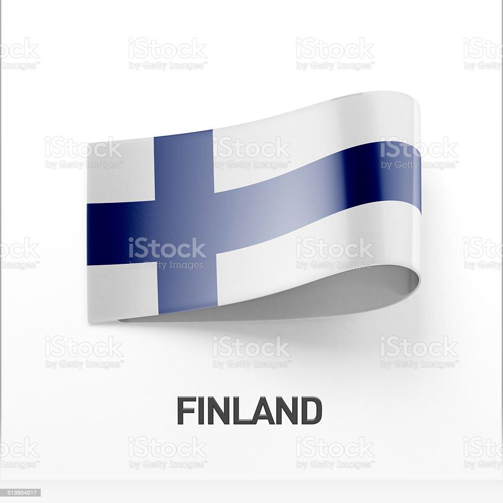 Finland Flag Icon stock photo