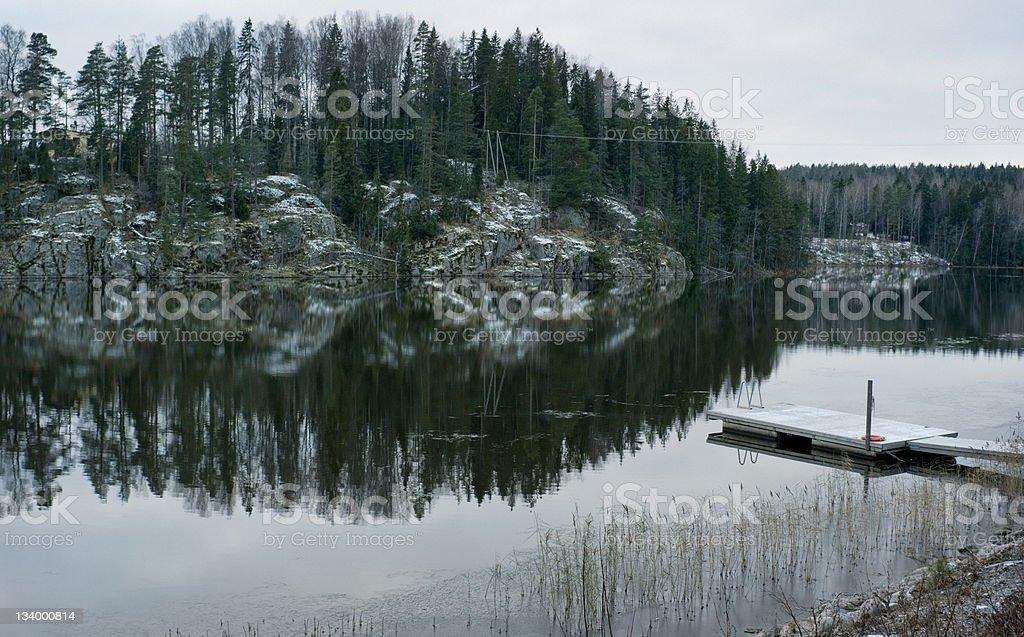 Finland Lake Autumn stock photo