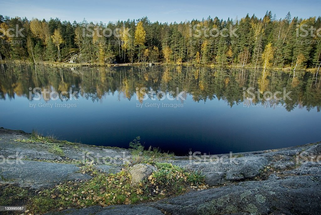 Finland lake view stock photo