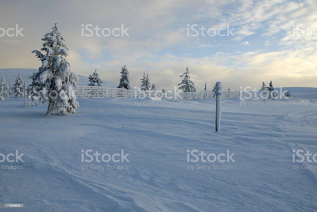 Finland Lapland Landscape royalty-free stock photo