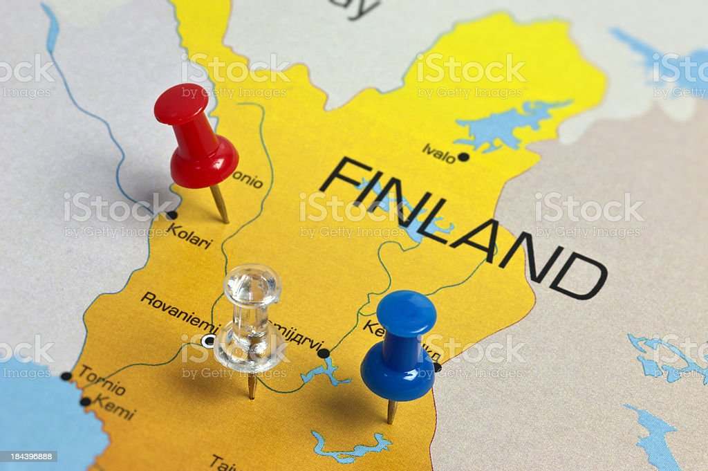 Finland Map royalty-free stock photo
