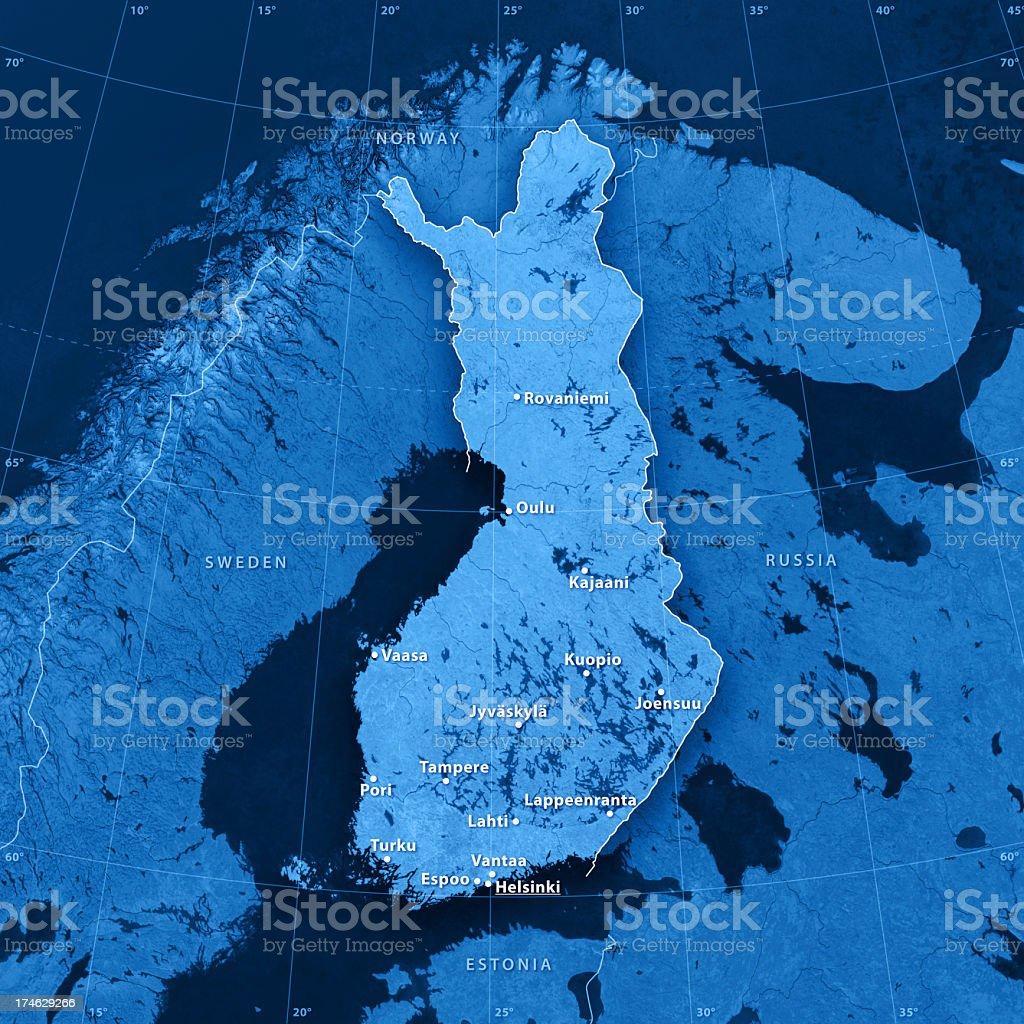 Finland Topographic Map stock photo