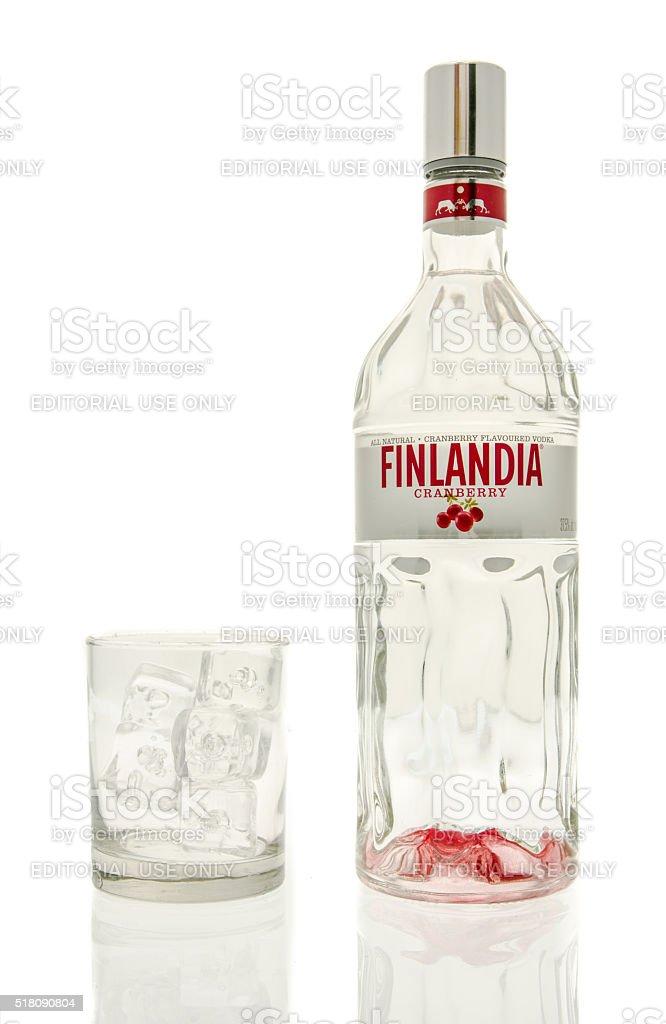 Finlandia Cranberry Vodka stock photo