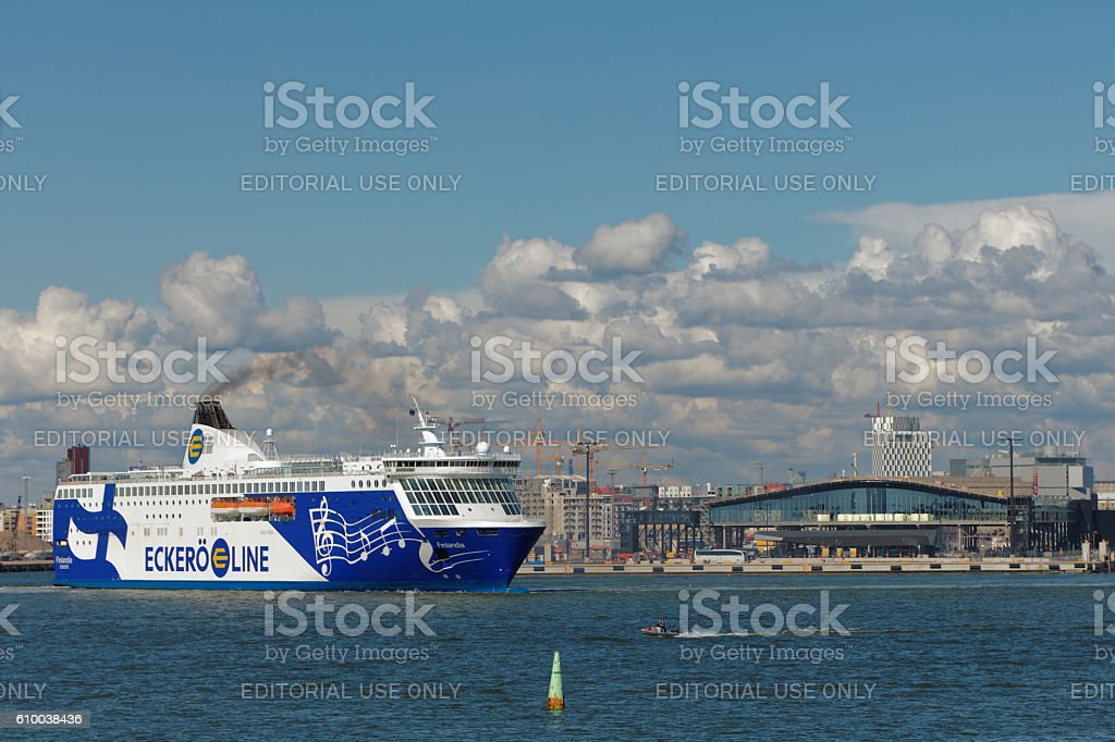 M/S Finlandia departs from Helsinki, Finland stock photo