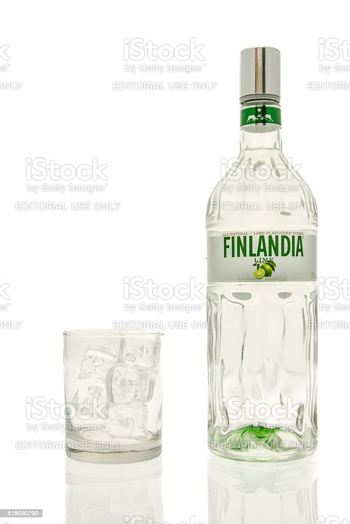 Finlandia Lime Vodka stock photo