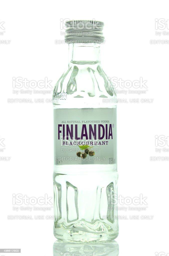 Finlandia natural flavoured vodka isolated on white background stock photo