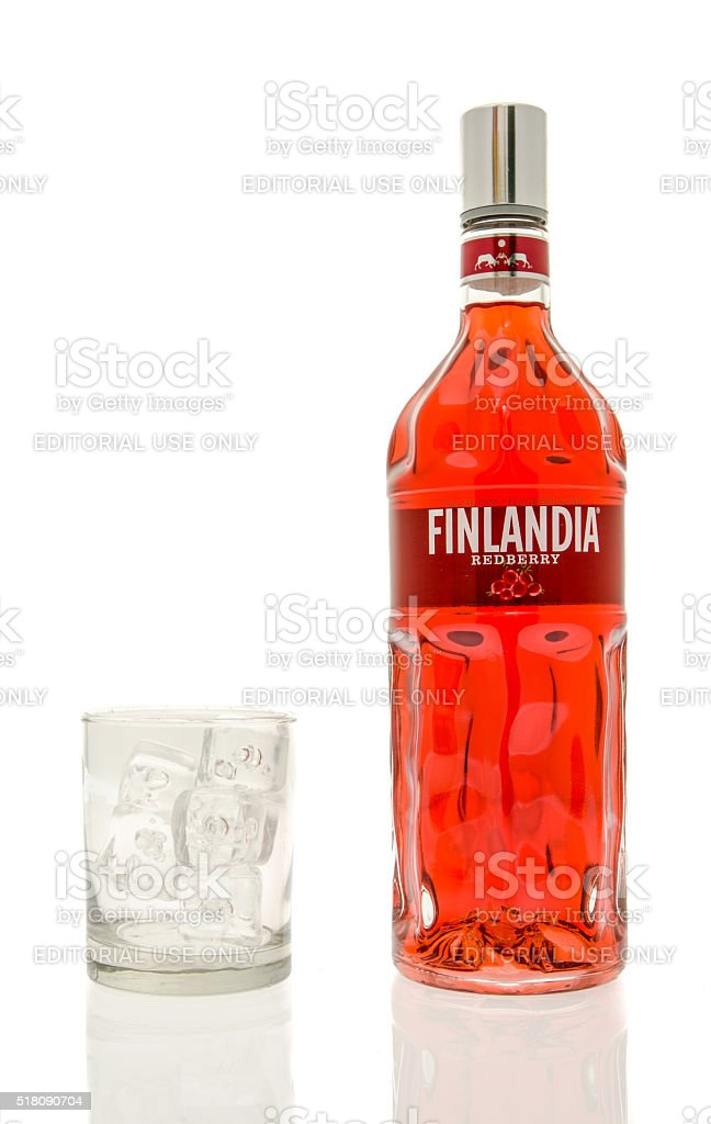 Finlandia Redberry Vodka stock photo