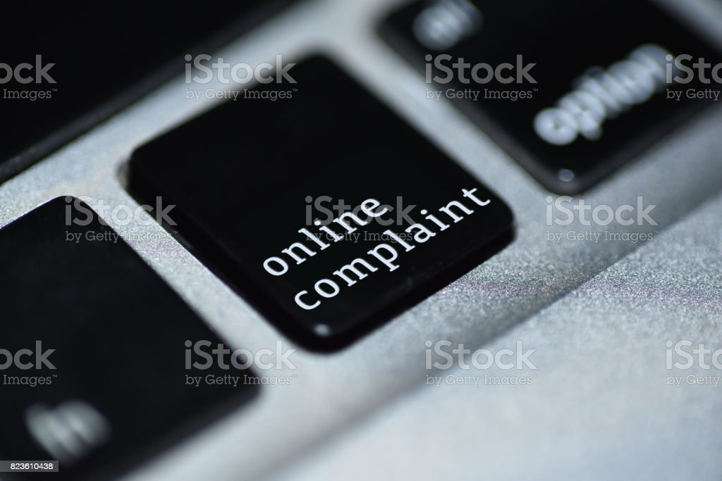 Finling online complaint stock photo