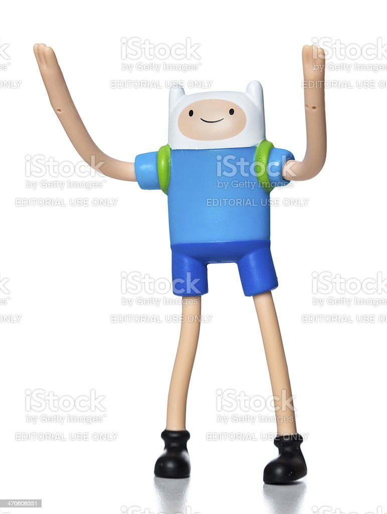 Finn Adventure Time McDonalds happy meal toy stock photo