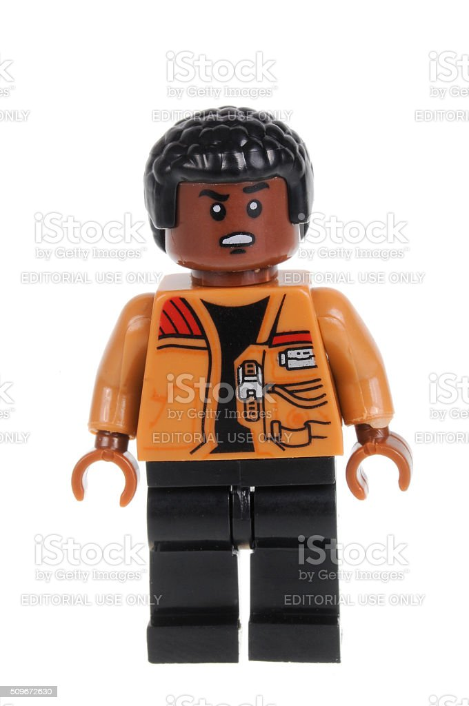 Finn Force Awakens Lego Minifigure stock photo