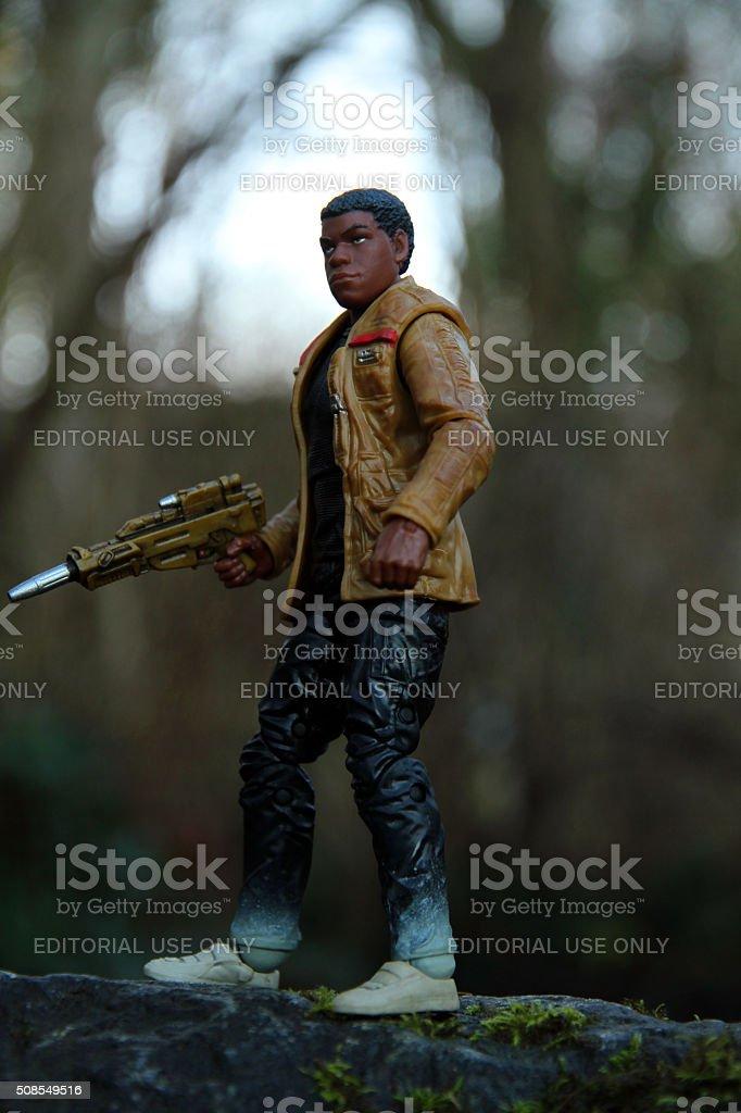 Finn in the Woods stock photo